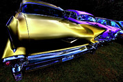 Tail Lights Digital Art - Cadillacs by David Patterson