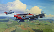 Air Force Print Art - Cadillacs Rising by Steven Heyen