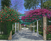 Buy Art Painting Prints - Cadiz Garden Print by Richard Harpum