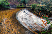 Weir Framed Prints - Caeau Weir Framed Print by Adrian Evans