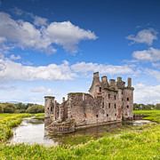 Moated Castle Prints - Caerlaverock Castle Dumfries and Galloway Scotland Print by Colin and Linda McKie