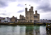 Wales Framed Prints Posters - Caernarfon Castle Wales 1 Poster by Paul Cannon