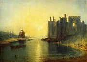 Romanticism Posters - Caernarvon Castle 1799 Poster by Joseph Mallord William Turner