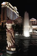 Winged Victory Of Samothrace Prints - Caesars Fountain Print by Jenny Hudson