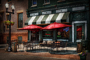 Umbrella Framed Prints - Cafe - Albany NY - Mc Gearys Pub Framed Print by Mike Savad