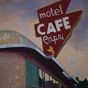Townscapes Paintings - Cafe Capri by Katrina West