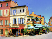 Southern France Metal Prints - Cafe Corner Metal Print by Douglas J Fisher