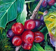 Green Beans Paintings - Cafe Costa Rica by Carol Allen Anfinsen