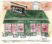 Macdougal Street Paintings - Cafe Dante by Lynn Lieberman