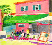 St.tropez Paintings - Cafe des Arts by Rhonda Brooks