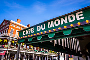 Louisiana Photo Framed Prints - Cafe Du Monde Picture in New Orleans Louisiana Framed Print by Paul Velgos