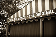 Du Monde Posters - Cafe Du Monde the Original Poster by John Rizzuto