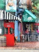 Doors Metal Prints - Cafe Fells Point MD Metal Print by Susan Savad