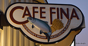 Eatery Digital Art - Cafe Fina by Barbara Snyder