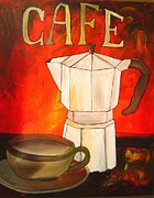 Espresso Prints Posters - Cafe Poster by Gino Savarino