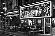 Night Cafe Photo Prints - Cafe in Amsterdam / Netherlands Print by Barry O Carroll