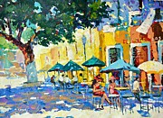 Park Scene Originals - Cafe in the shadows by Dmitry Spiros