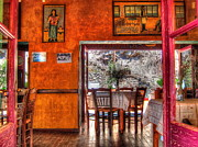 Lesvos Acrylic Prints - Cafe Municipal Acrylic Print by Andreas Thust