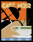 Vintage Teacup Prints - Cafe noir Print by Brian James