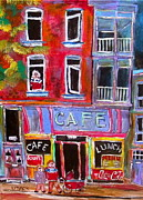 Michael Litvack Art - Cafe Notre Dame by Michael Litvack