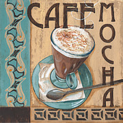 Bistro Painting Metal Prints - Cafe Nouveau 1 Metal Print by Debbie DeWitt