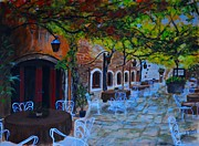 Outdoor Cafe Paintings - Cafe Seating by Shirl Theis