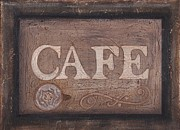 Restaurant Signs Paintings - Cafe Sign by Barbara St Jean
