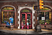 Old Street Metal Prints - Cafe - The Italian Bakery Metal Print by Mike Savad
