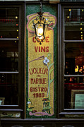 Night Cafe Photo Prints - Cafe Vins at Night Print by Mary Machare