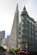 Sentinel Building Prints - Cafe Zoetrope and Transamerica Bldg Print by David Bearden