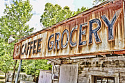 Wooden Building Art - Caffee Grocery by Scott Pellegrin