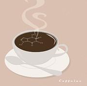 Caffeine Molecule Print by Kate Paulos