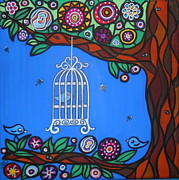 Cage Paintings - Caged by Jennifer Wright
