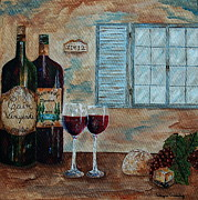 Villa Paintings - Cain Vineyards and Kennedy Meadows by Tamyra Crossley