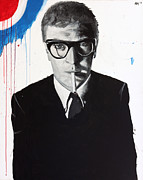 Michael  Caine Paintings - Caine by Harry Moses