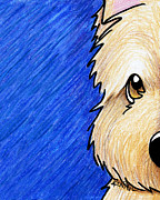 Kim Niles Prints - Cairn Terrier Up Close Print by Kim Niles