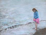Featured Pastels Originals - Cait at Dugans Cove by Vicki Barry