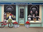 Catherine Holman Prints - Caitlins Cakery and Cafe Print by Catherine Holman