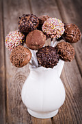 Party Birthday Party Metal Prints - Cake pops Metal Print by Jane Rix