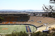 Sports Fields Framed Prints - Cal Golden Bears California Memorial Stadium Berkeley California 5D24665 Framed Print by Wingsdomain Art and Photography