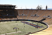 Cal Bear Prints - Cal Golden Bears California Memorial Stadium Berkeley California 5D24703 Print by Wingsdomain Art and Photography