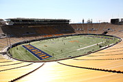Cal Bear Metal Prints - Cal Golden Bears California Memorial Stadium Berkeley California 5D24705 Metal Print by Wingsdomain Art and Photography