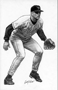 Mlb Drawings Prints - Cal Ripken Print by Harry West