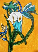 Brandon Drucker Prints - Cala Lilly- Yellow Print by Brandon Drucker