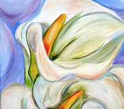 Whites Paintings - Cala Lily by Debi Pople