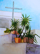 Outdoor Still Life Painting Acrylic Prints - Calabrian Cross Acrylic Print by Natalie Sweetabow