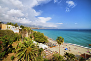 Costa Prints - Calahonda Beach in Nerja Print by Artur Bogacki