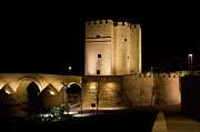 Calahorra Posters - Calahorra Tower in Cordoba at Night Poster by Artur Bogacki