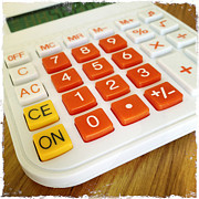 Office Photo Acrylic Prints - Calculator Acrylic Print by Les Cunliffe