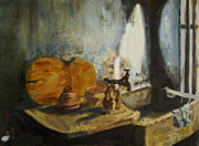 Calcutta Paintings - Calcutta Kitchen by Rex Maurice Oppenheimer